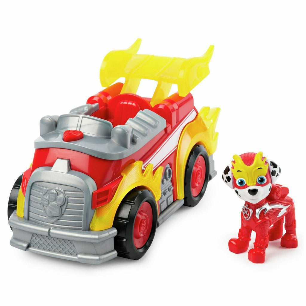 PAW Patrol Mighty Pups Super PAW Deluxe Marshall's Vehicle with Marshall Figure