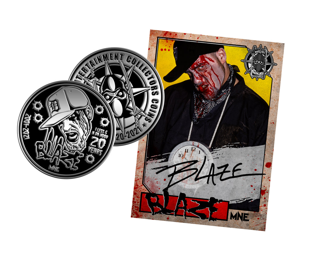 Blaze - Commemorative Coin & Trading Card Only