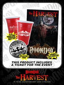 Boondox - Livestream, Poster, Coin & Reusable Insulated Party Cup