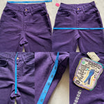 "Vintage 90's Deadstock Purple Lee Jeans ""27 ""28"