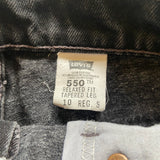 "Vintage 550 Black Cutoff Levi's Shorts ""28 ""29"