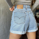 "Vintage 90's 37954 Levi's Cuffed Shorts ""27 ""26"