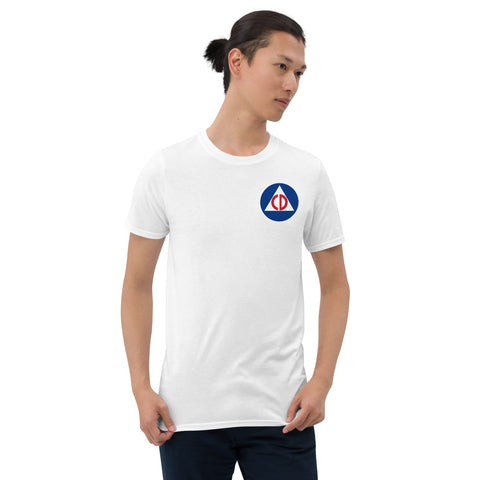 Vintage US Civil Defense Logo Short-Sleeve Unisex T-Shirt