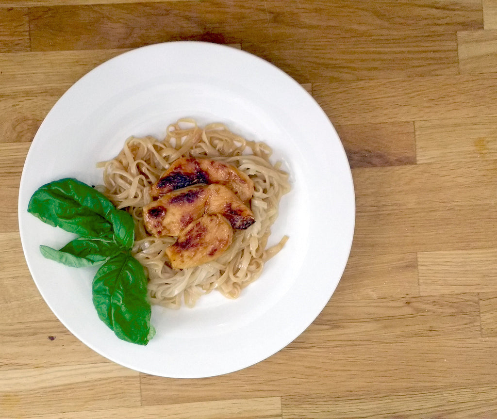 Chicken & Basil Noodles