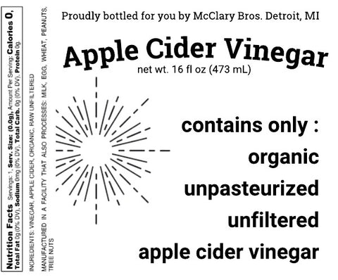 NEW* 16oz Organic Apple Cider Vinegar (with Mother) 9pk