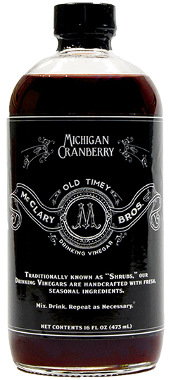 Michigan Cranberry Drinking Vinegar