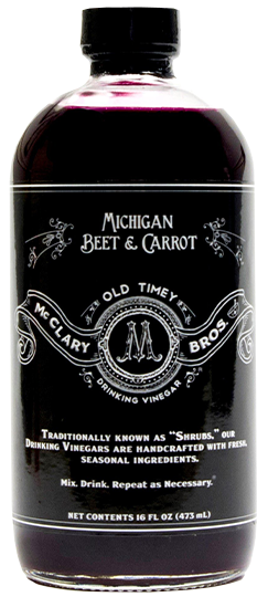 Michigan Beet & Carrot Drinking Vinegar