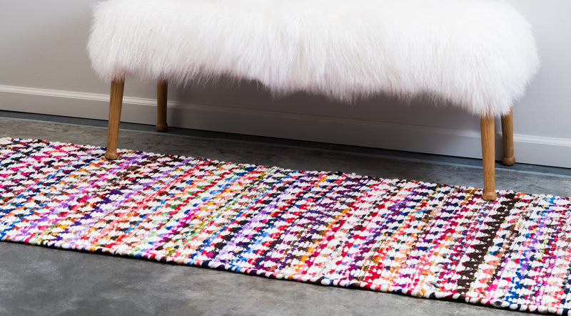 Trellis Braided Chindi Rug