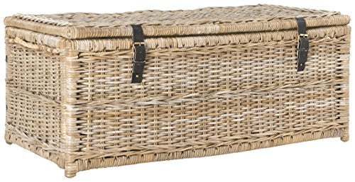 "happimess Caden 46"" Wicker Storage Trunk, Natural"