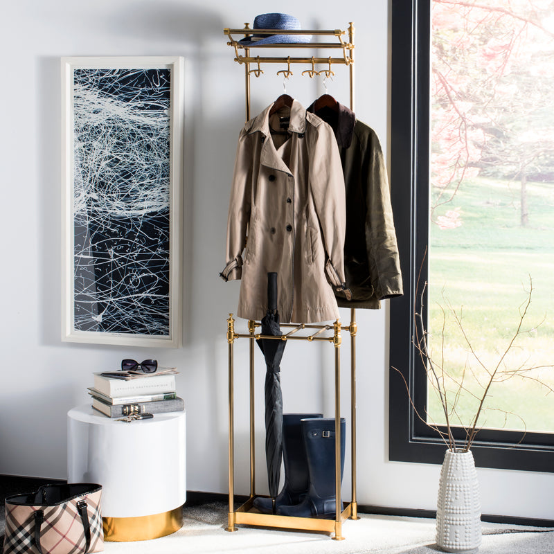 "Tenley 80"" 4-Hook Coat Rack with Umbrella Stand"