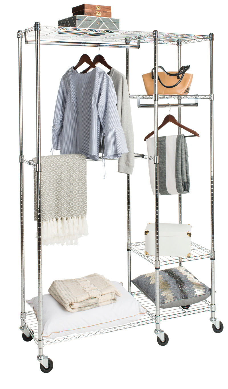 "Cayla 74"" Garment Rack on Casters"