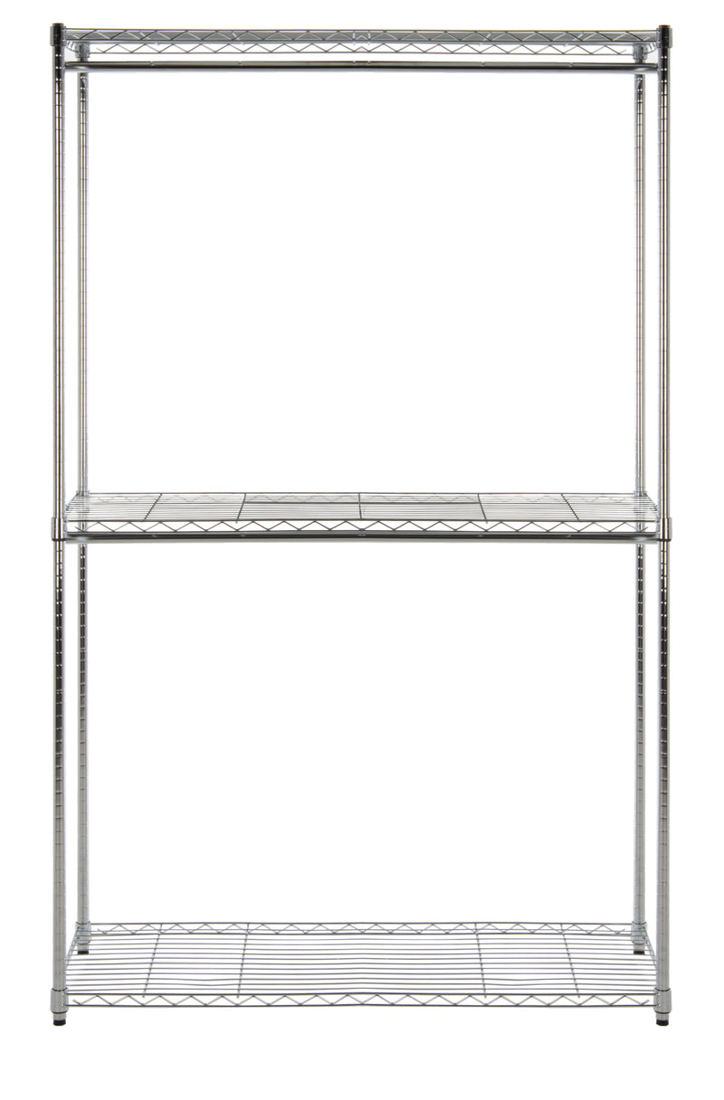 "Katherine 78.7"" Double-Bar Garment Rack and Shelving Unit"