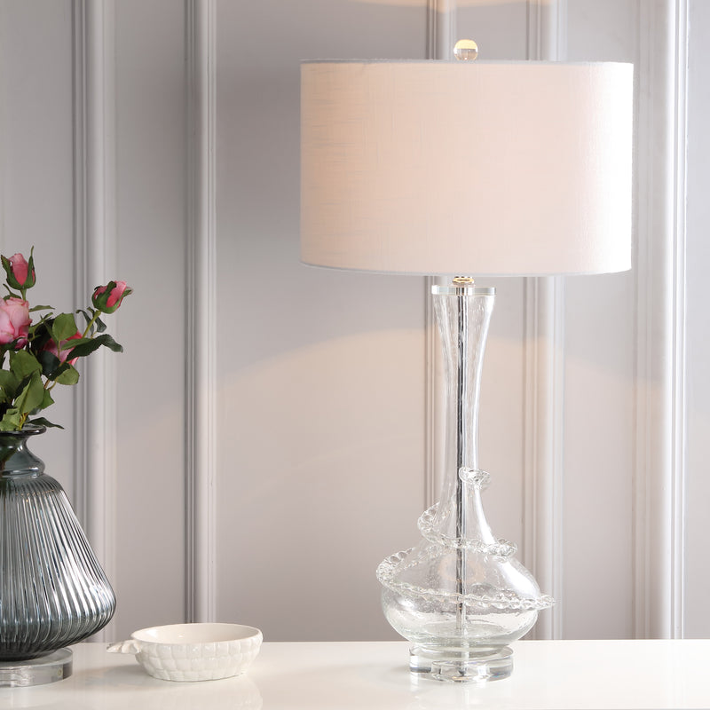 "Belle 31.5"" Glass LED Table Lamp"