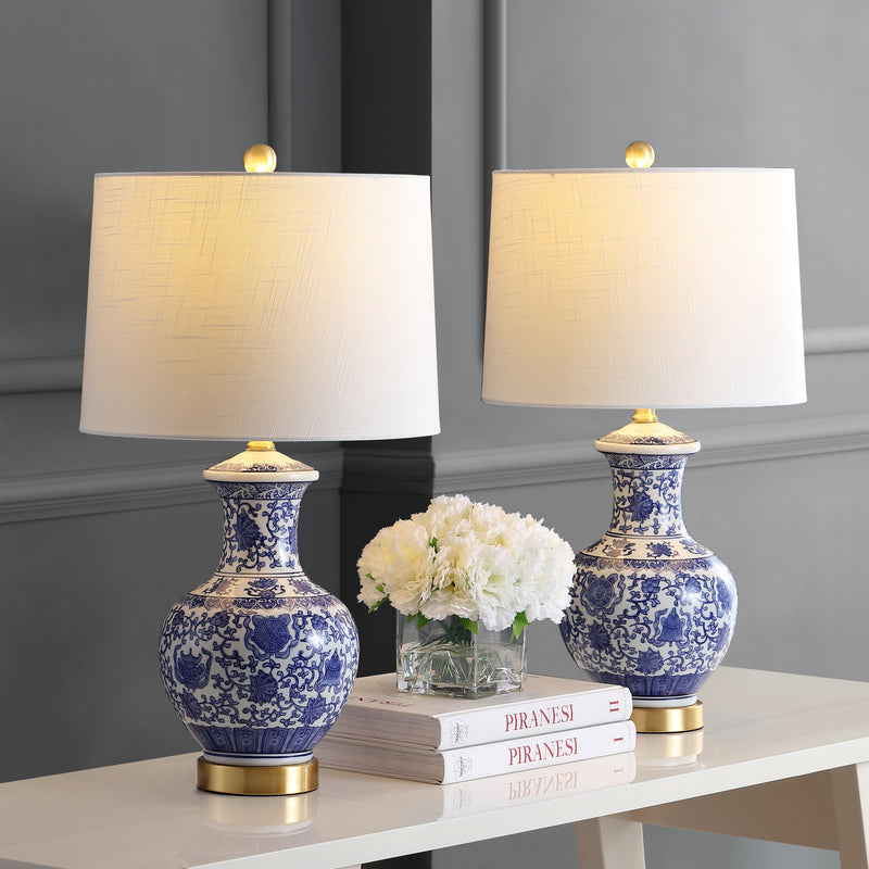 "Jennifer 25.25"" Ceramic/Metal LED Table Lamp"