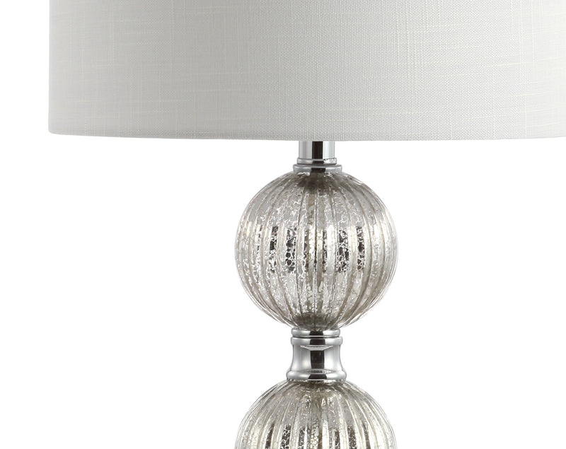 "Rita 30.5"" Silvered Orbs Glass/Metal LED Table Lamp"