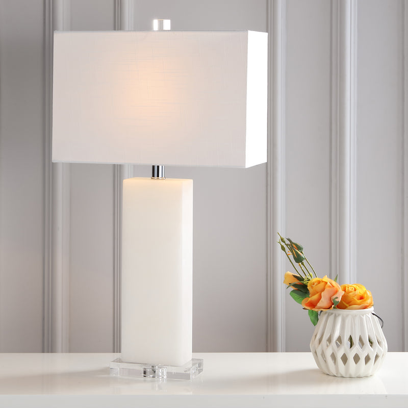 "Jonathan Y Tiggie 27"" Alabaster LED Table Lamp"