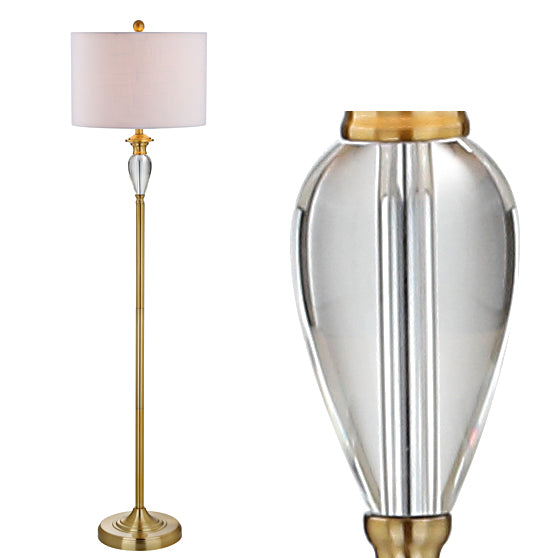 "Evelyn 60"" Crystal / Metal LED Floor Lamp"