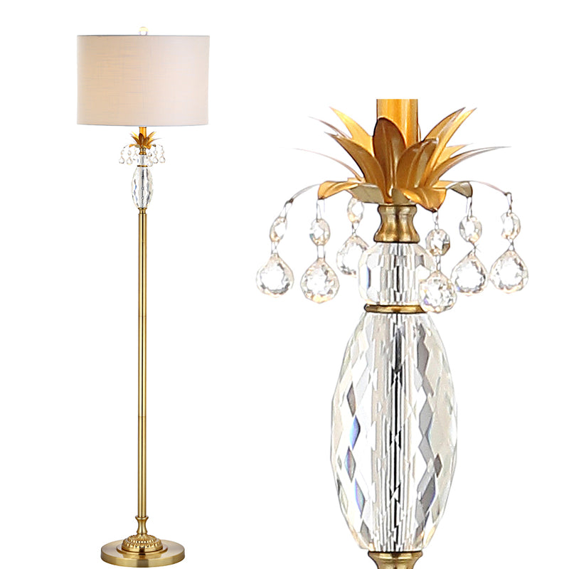 "Adalyn 61"" Crystal / Metal LED Floor Lamp"