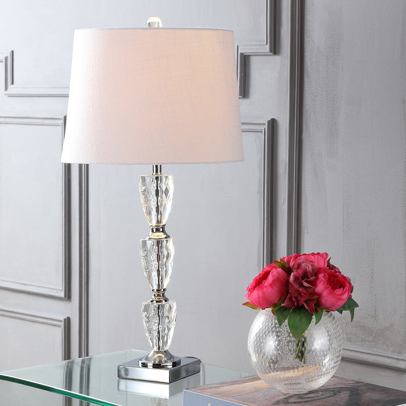 "Jonathan Y Ellie 28"" Crystal LED Table Lamp"