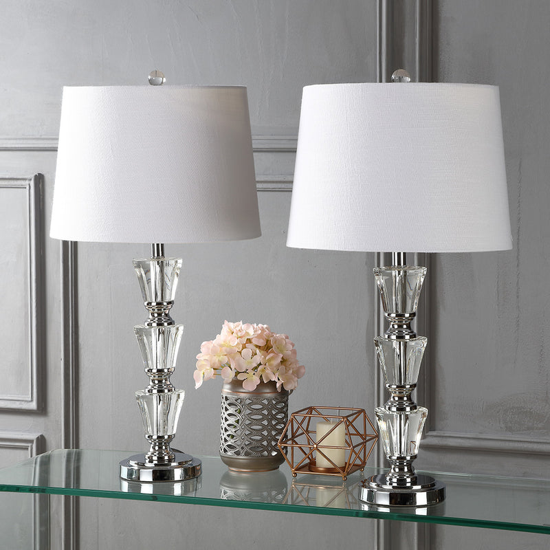 "Layla 27"" Crystal LED Table Lamp"