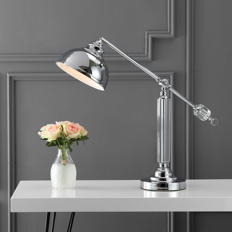 "Giselle 22"" Metal and Crystal LED Task Lamp"