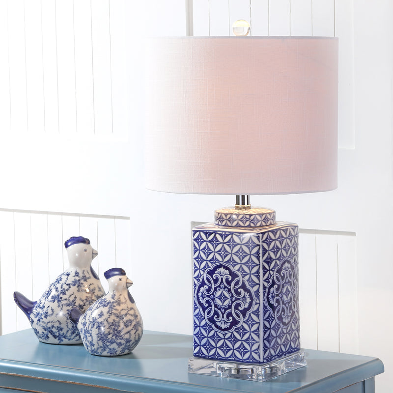 "Choi 23"" Chinoiserie LED Table Lamp"