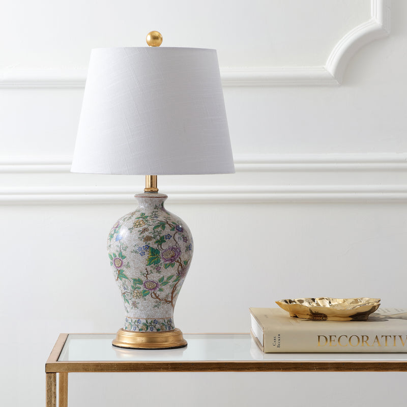 "Grace 24"" Floral LED Table Lamp"