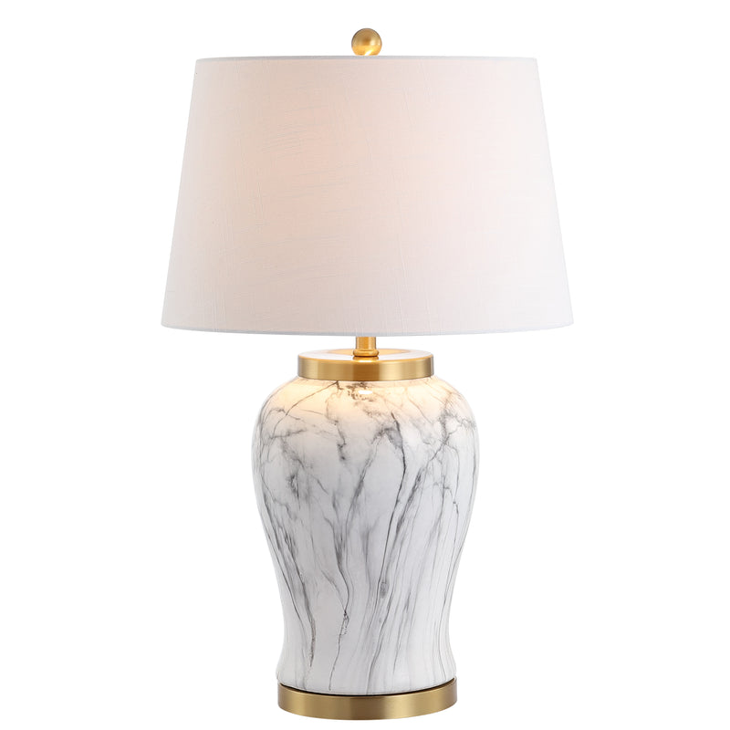 "Prague 28"" Ceramic Marble LED Table Lamp"