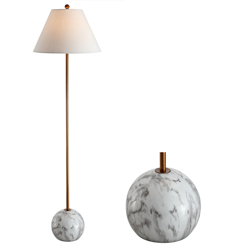"Miami 63.5"" Minimalist Resin/Metal LED Floor Lamp"