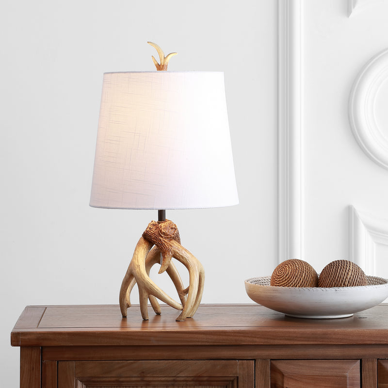 "Vermont 19"" Antler Resin LED Table Lamp"