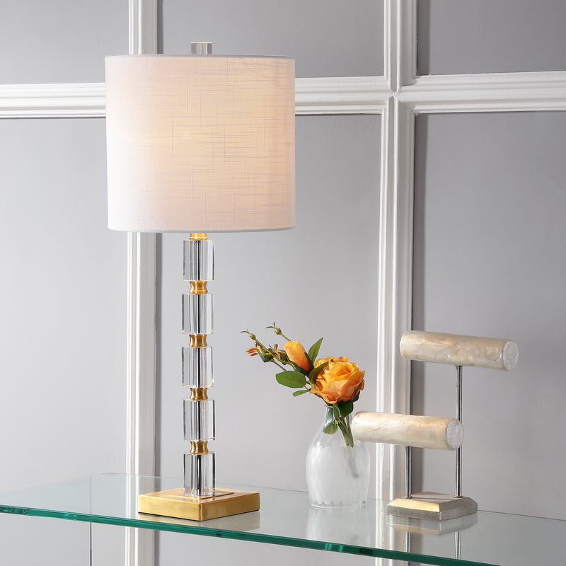 "Claire 28.5"" Crystal LED Table Lamp"