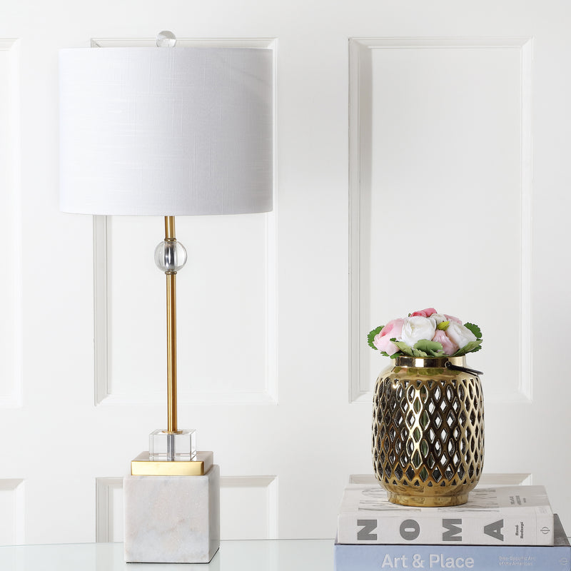 "Dawson 30"" Marble/Crystal LED Table Lamp"