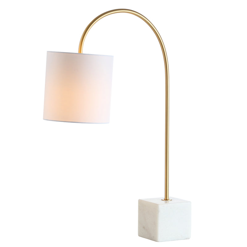 "Fisher 25"" Marble/Brass LED Table Lamp"