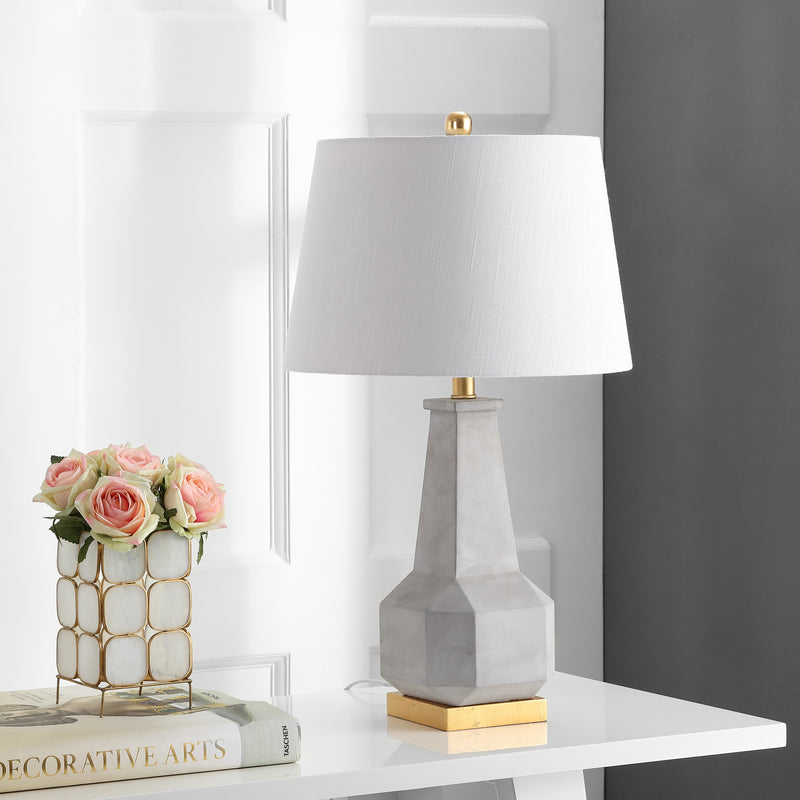 "Ariel 26.5"" Cement LED Table Lamp"