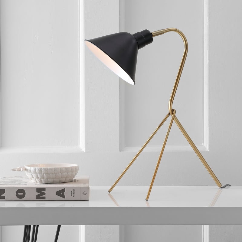 "Mae  20.25"" Brass LED Task Lamp"