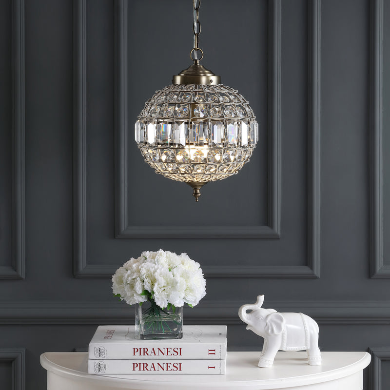 "Georgina 12"" Crystal/Metal LED Chandelier Pendant"