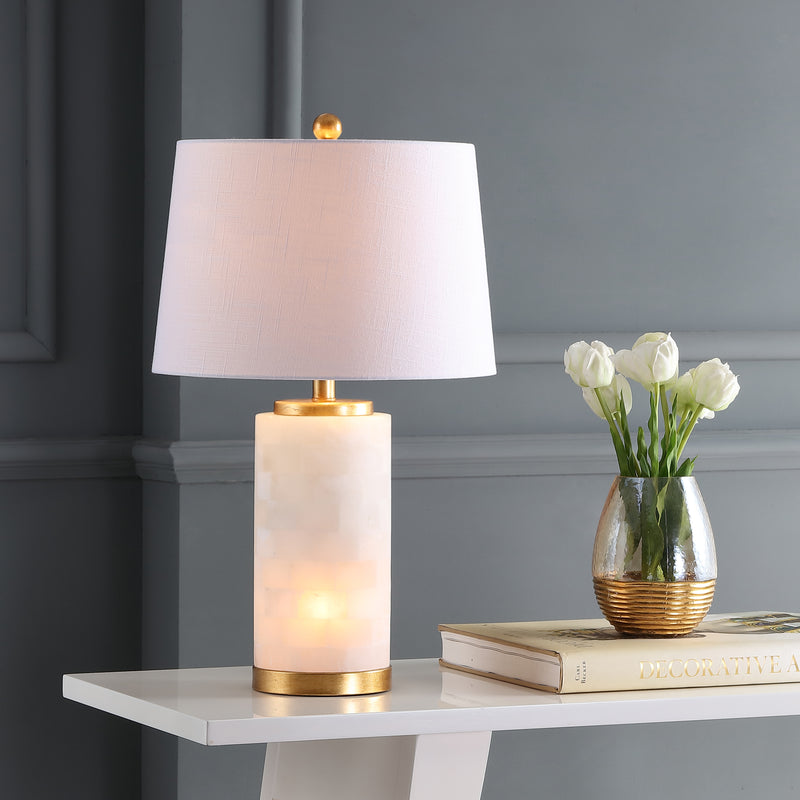 "Eliza 25.5"" Alabaster LED Table Lamp"