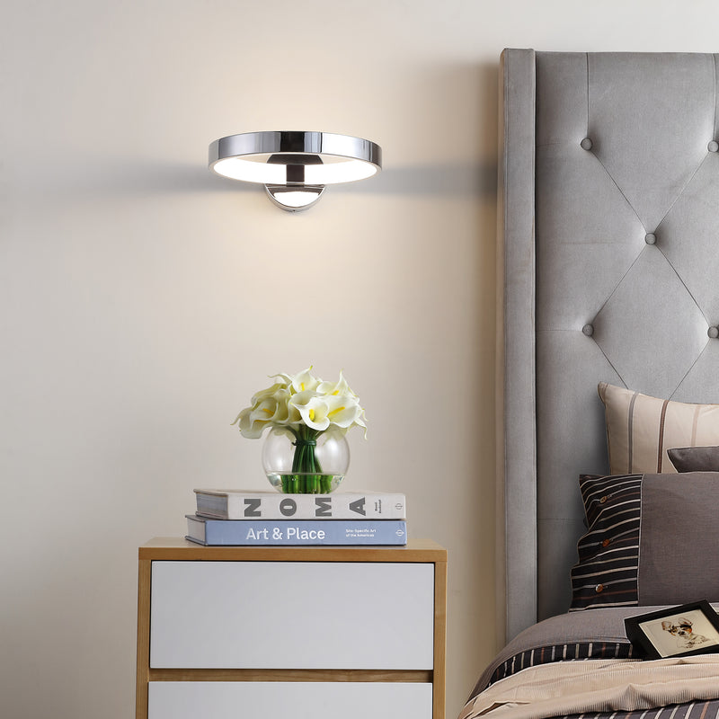 "Nathaniel 12.25"" Dimmable Integrated LED Metal Wall Sconce"