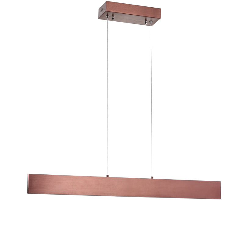 "Draper 32"" Dimmable Adjustable Integrated LED Metal Linear Pendant"