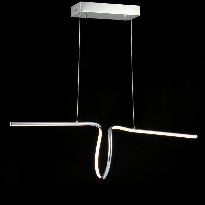 "Jonathan Y Ali 34.5"" Dimmable Adjustable Integrated LED Metal Linear Pendant"