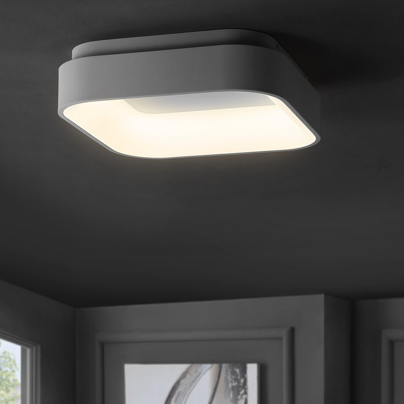 "Rafael 17.7"" Integrated LED Metal Flush Mount Ceiling Light"