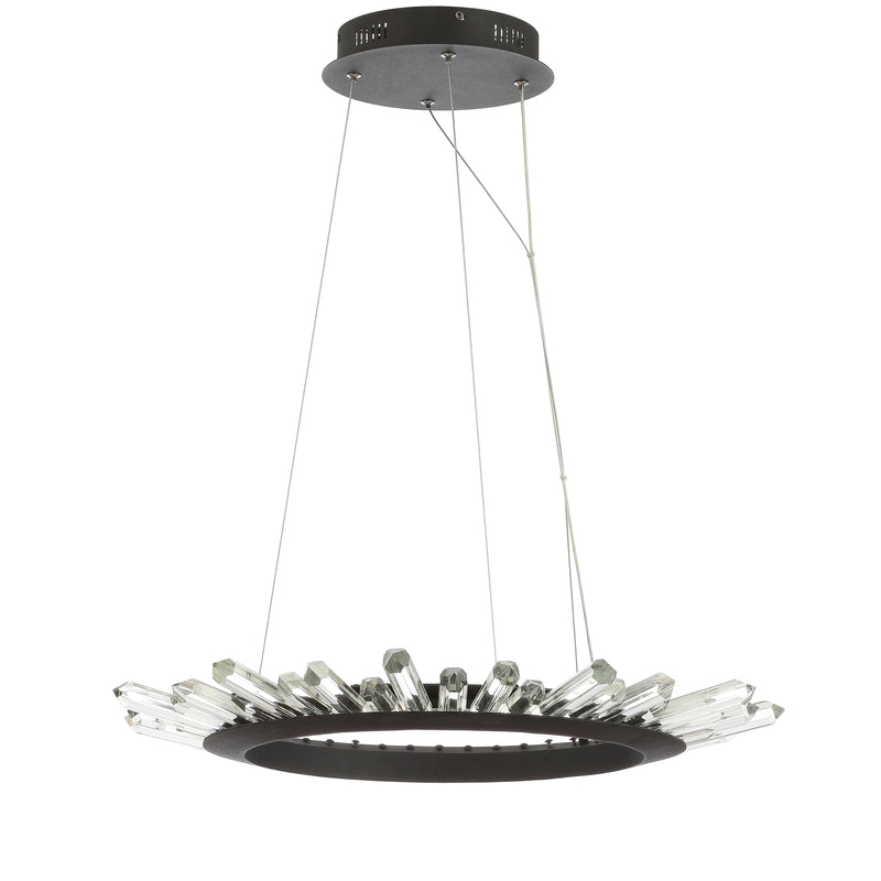 "Elsa 24"" Adjustable Integrated LED Modern Crystal Pendant"