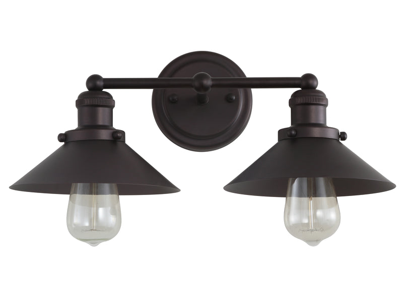 "July 17.5"" 2-light Metal Vanity Light"
