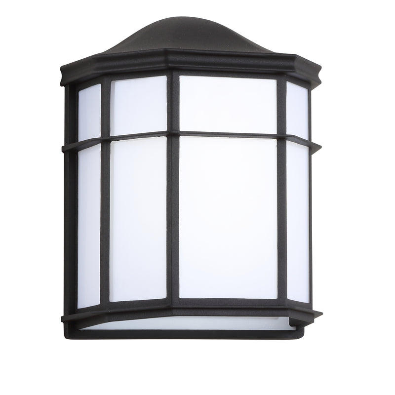 "Jonathan Y Henry 9.7"" Outdoor Frosted Acrylic/Metal Integrated LED Sconce"