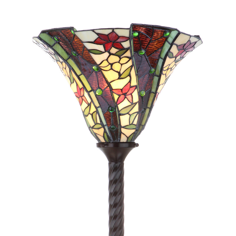 "Williams Tiffany-Style 71"" Torchiere LED Floor Lamp"