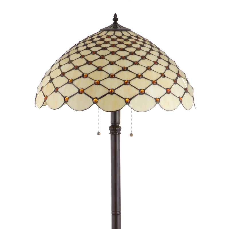 "Jonathan Y Lee Tiffany-Style 62"" LED Floor Lamp"