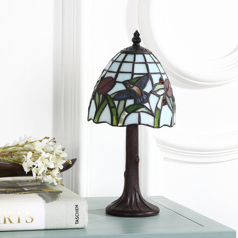 "Hummingbird Tiffany-Style 12"" LED Table Lamp"