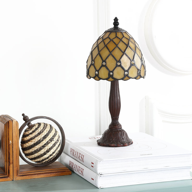 "Campbell Tiffany-Style 12.5"" LED Table Lamp"