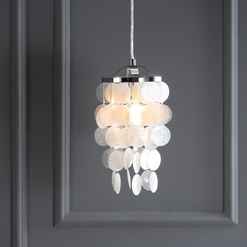 "Cayla 7"" Seashell LED Chandelier Pendant"