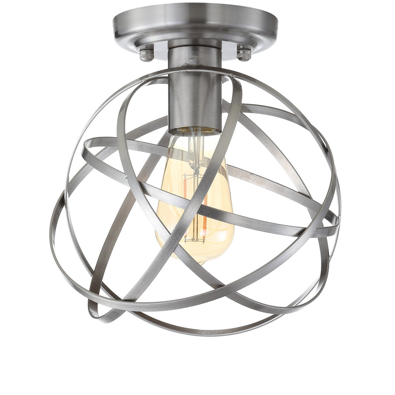 "Alba 8.5"" Metal Orb LED Flush Mount"